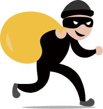 泥棒の画像